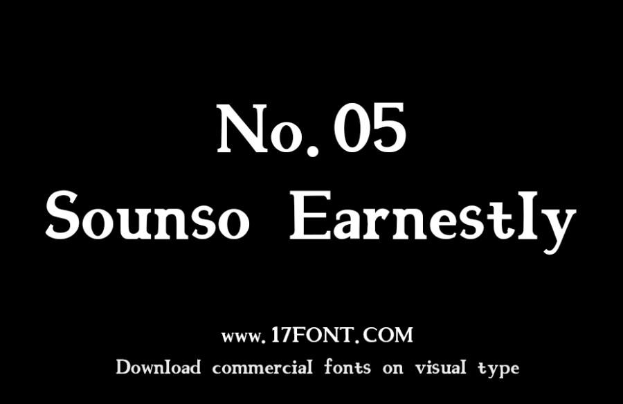 No.05-Sounso Earnestly