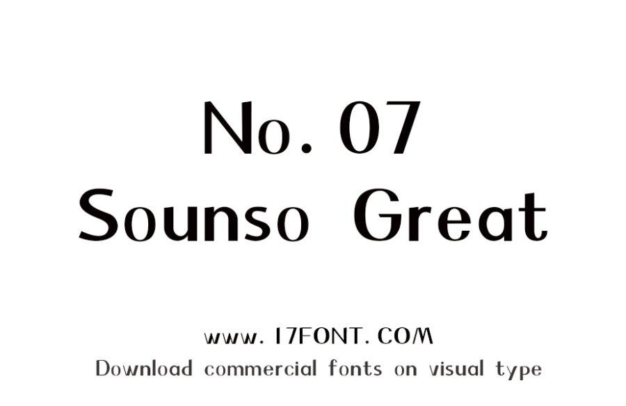 No.07-Sounso Great