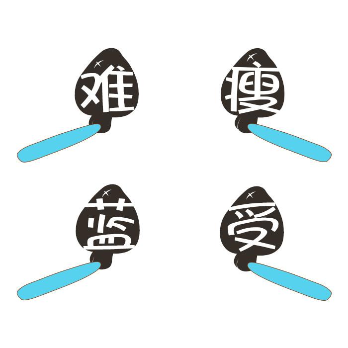 义启蓝瘦香菇体