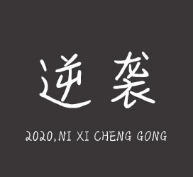 undefined-2020,逆袭成功-艺术字体