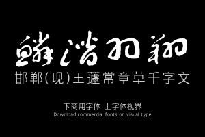 邯郸(现)王蘧常章草千字文-字体设计