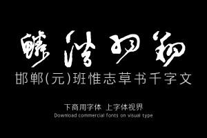 邯郸(元)班惟志草书千字文-字体设计