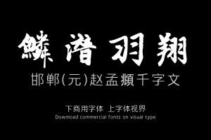 邯郸(元)赵孟頫千字文-字体下载