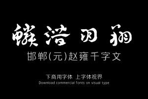 邯郸(元)赵雍千字文-艺术字体