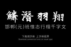 邯郸(元)班惟志行楷千字文-字体设计