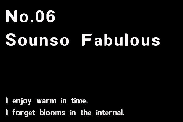 No.06-Sounso Fabulous