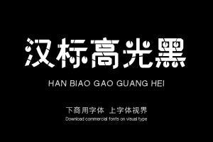 汉标高光黑-字体设计