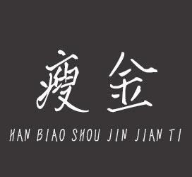 undefined-汉标瘦金简体-字体设计