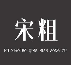 undefined-胡晓波青年宋粗-字体设计