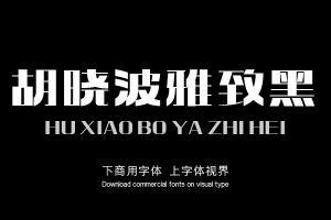 胡晓波雅致黑-字体设计