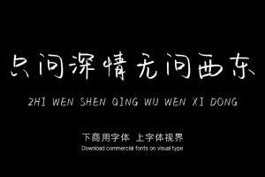 只问深情无问西东-字体设计