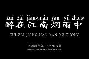 醉在江南烟雨中-艺术字体
