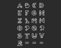 26个英文大写字母字体设计参考