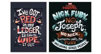 漫威超级英雄字体系列海报欣赏