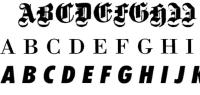 有關拉丁字母的基本字體