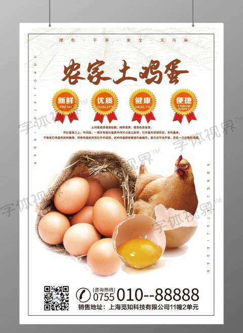 剑锋大气农家新鲜鸡蛋超市宣传海报美食海报