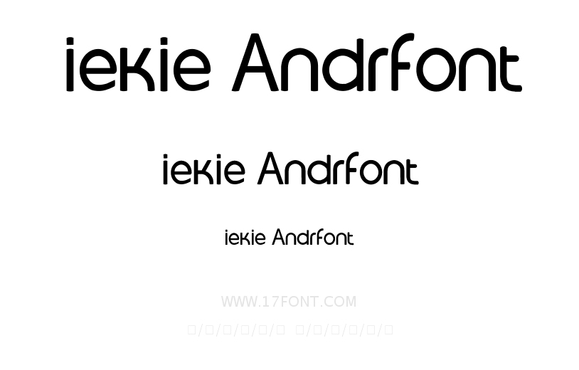 iekie Andrfont