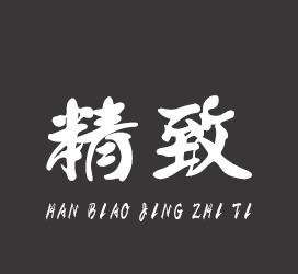 汉标字库-汉标精致体-艺术字体