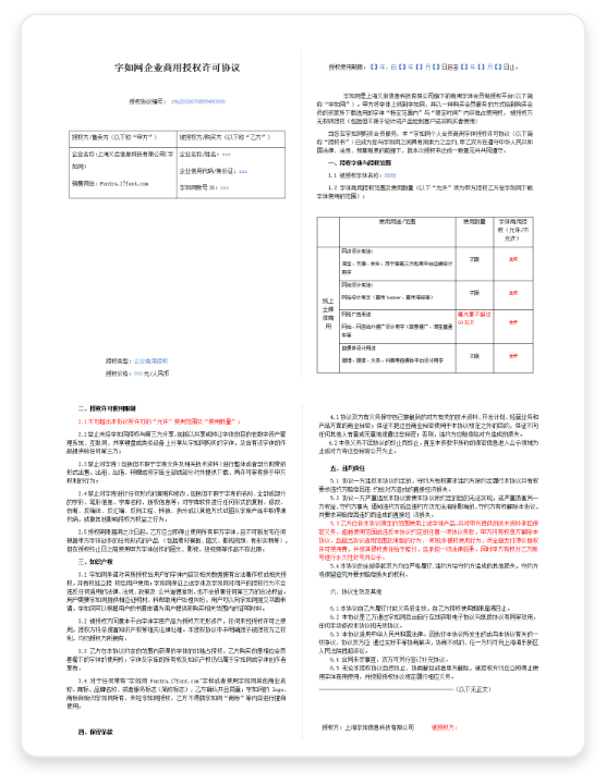 授权合同(电子版)